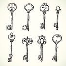 Key,Old-fashioned,Retro Revival,Lock,Antique,Vector,Old,Pencil Drawing,Drawing - Art Product,Ilustration,Set,Design Element,Computer Icon,Security,Swirl,Decoration,Safety,Doodle,Open,Privacy,Collection,hand drawn,Secrecy,Isolated,Sketch,Metal