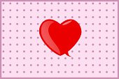 Pink Color,Shiny,Symbol,Clip Art,Red,Love,Ilustration,Color Image,Speech Bubble,Polka Dot