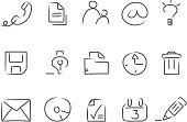 Sketch,Symbol,Computer Icon,Icon Set,Telephone,Light Bulb,Calendar,E-Mail,Communication,Pencil,Clock,Envelope,Sign,Document,Mail,Pen,File,Garbage Bin,'at' Symbol,hand drawn,Floppy Disk,Avatar,CD-ROM,Illustrations And Vector Art,Vector Icons