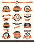 Sign,Retro Revival,Old-fashioned,Banner,Placard,Seal - Stamp,Ribbon,Badge,Circle,Award,Vector,Old,French Culture,1950s Style,Label,Pattern,Scroll Shape,Symbol,Orange Color,Arrow Symbol,Interface Icons,Success,Blank,Certificate,Collection,Star Shape,Design Element,Rural Scene,Ilustration,1940-80 Retro-styled Imagery,Stitch,Web Element,Frame,graphic element,Set,1960s Style,Copy Space,Design,Empty,web design