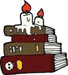 Library,Candle,Book,Halloween,Clip Art,Cheerful,Cultures,Dribbling,Wizard,Doodle,Witch,Ilustration