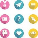 Yellow,Pink Color,Blue,Computer Icon,E-Mail,Illustrations And Vector Art,Web Page,Typescript,Modern,Technology,Question Icon,Camera Icon,Symbol,Internet,Interface Icons,Photo Icon