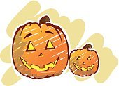 Backgrounds,Decoration,Halloween,Decorating,Pumpkin,Holiday,Celebration,Ilustration,Vector