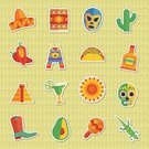 Wrestling Mask,Computer Icon,Pinata,Taco,Ilustration,Cowboy Boot,Lizard,Margarita,Avocado,Ethnic,Red,Blanket,Mayan,Blue,Tequila - Drink,Sombrero,Badge,Glass,Dahlia,Chili Pepper,Mexican Ethnicity,Maraca,Vector,Knick Knack,Pepper - Vegetable,Label,Computer Graphic,Cactus,Green Color,Yellow,Decoration