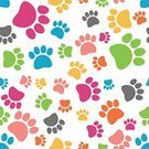Paw,Animal,Backgrounds,Pattern,Composition,Symbol,Seamless,Multi Colored,Mammal,Abstract,Vector,Pets,Puppy,Ilustration,Animal Foot,Walking