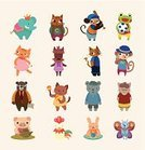 Domestic Cat,Cartoon,Animal,Pig,Undomesticated Cat,Pets,Teapot,Dog,Symbol,Ice Cream,Collection,Coffee - Drink,Ilustration,Puppy,Baseballs,Butterfly - Insect,Friendship,Characters,Joy,Vector,Baseball - Sport,Elephant,Bear,Monkey,Frog,Cute,Set,Cockerel,Zoo,Fun,Beach Ball,Crown,Tea - Hot Drink,Occupation,Nature,Rabbit - Animal,Ape,Chicken - Bird,Drawing - Art Product,White Collar Worker