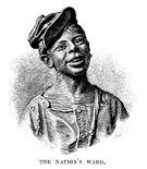 African Ethnicity,Engraved Image,Retro Revival,Old-fashioned,Male,Old,Little Boys,Ethnicity,Ethnic,Child,Print,Victorian Style,People,North America,Image Created 19th Century,Cultures,The Past,Nostalgia,Black And White,African Descent,19th Century Style,Antique,Orphan,Styles,History,Woodcut,The Americas,USA,American Culture,Ilustration