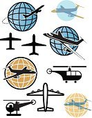 Airplane,Globe - Man Made Object,Commercial Airplane,Corporate Jet,Religious Icon,Symbol,Earth,Travel,World Map,Computer Icon,Helicopter,Travel Destinations,Sphere,Flying,Air Vehicle,Vacations,Business Travel,Transportation,Simplicity,Mode of Transport,Holiday,People Traveling,Travel Locations,Air Travel