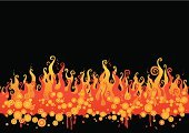 Flame,Fire - Natural Phenomenon,Heat - Temperature,Psychedelic,Vector,Backgrounds,Hell,Funky,Sparks,Halloween,Inferno,Burning,Ilustration,Circle,Actions,Isolated Objects,Igniting