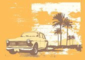 Beach,Car,Retro Revival,1940-1980 Retro-Styled Imagery,Dirty,Summer,Road,Traffic,Palm Tree,Vector,Old-fashioned,Backgrounds,Desert,Tropical Climate,Cruise,Sunset,Sun,Obsolete,Sea,Tree,Classic,Art,Heat - Temperature,Drive,Antique,Water,Highway,Engine,Cloud - Sky,Speed,Transportation,Wheel,Sky,Design,Riding,Land Vehicle,Illustrations And Vector Art,Transportation,Orange Color,Nature,Mode of Transport