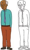 African Descent,Mature Adult,Serene People,White Background,Male Beauty,Hands In Pockets,Businessman,Indian Ethnicity,Vector,Smiling,Slim,Eyeglasses,Old,Green Color,Middle Eastern Ethnicity,One Person,Men,Clip Art,Purple,Asian and Indian Ethnicities,Brown,Balding,Tie,Drawing - Art Product,Standing,Adult,Ilustration,Male,Cartoon,Cut Out,Senior Adult,70s,Isolated