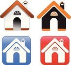 Abstract,House,Shiny,Set,Computer Icon,Internet,Multiple Image,Vector,Ilustration,Push Button