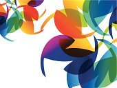 Rainbow,Creativity,Multi Colored,Backgrounds,Ilustration,Vector,Floral Pattern,Abstract