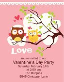 Family,Old-fashioned,Romance,Owl,Wedding,Valentine Day Love Beautiful,Mothers Day Card,Valentine Card,Valentine's Day - Holiday,Mothers Day,Women,Typescript,Abstract,Cupid,Ornate,Vector