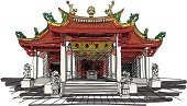 Sketch,Thailand,Synagogue,Temple - Building,Japan,Phuket,Architecture,Ancient,Chinese Culture,Cultures,East,Religion,Indigenous Culture,Ink,History,Red,Old-fashioned,Pencil Drawing,Famous Place,Asia,Shrine,Vector,East Asian Culture,Drawing - Activity,Doodle,Ilustration,Buddhism