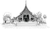 Laos,Old,Cultures,Ancient,Religion,Indigenous Culture,Famous Place,Architecture,xiang,Xiangthong,Luang,Temple - Building,Asia,Buddhism,Buddha,Synagogue,Wat,Palace,prabang,luangprabang,Vector,Antique,Art,Vientiane,Xieng Khuang Province,Ilustration,Stone Material