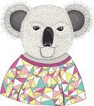 Multi Colored,Animal,Funky,Cartoon,Hipster,Characters,Koala,Portrait,Backgrounds,Fun,Computer Graphic,Cute,Fashionable,Youth Culture,Drawing - Art Product,Fur,Image,Modern,Cheerful,Backdrop,Fashion,Vector,Ilustration,Vibrant Color,Pattern,Wallpaper Pattern,Sweater,Bear,Geometric Shape