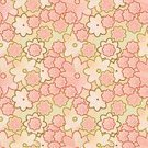Flower,Wallpaper Pattern,Nature,Pattern,Plant,Seamless,Textile,Abstract,Pastel Colored,Vector,Beauty In Nature,Backgrounds