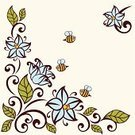 Decorating,Backgrounds,Curled Up,Honey,Ornate,Doodle,Classical Style,Elegance,Design Element,Leaves Frame,Design,Summer,Pattern,Flower,International Border,Ilustration,Leaf,Green Color,Bee,Season,template,Decor,Classical Music,Contour Drawing,Vector,Floral Pattern,Single Flower,Retro Revival,1940-1980 Retro-Styled Imagery,Flourish