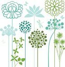 Flower Bed,Summer,Single Flower,Vector,Flower,Herbal Medicine,Herb,Nature,Botany,Natural Pattern,Growth,Design Element,Backgrounds,Season,Silhouette,Leaf,Beauty In Nature,Plant,Springtime,Meadow,Ayurveda,Floral Pattern,Abstract,Blossom,Grass