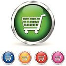 Shopping Cart,Urgency,Store,Symbol,Blue,Buy,Buying,Metallic,Paid,Chrome,Shopping,pushbutton,Selling,Internet,www,Social Security,Market,Interface Icons,Isolated,Set,Design,Sign,Shiny,Business,Retail,Circle