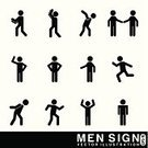 Men,Silhouette,Running,The Human Body,Black Color,Symbol,People,Ideas,Concepts,Black And White,Business,Human Head,Sign,Design,Gray,Isolated On White,Vector,White Background,Isolated,Male,Ilustration,Computer Graphic,Currency,White