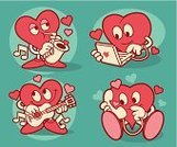 Heart Shape,Saxophone,Telephone,Message,Music,Mail,Valentine's Day - Holiday,Computer