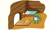 Rat,Home Interior,Mouse,Reading,Intelligence,Colors,Danger,Ideas,Cheese,Bed,Catching,Animal,Mammal,Cartoon,Newspaper,Chair,Pets,Ignoring,Mousetrap,Ilustration,Sitting