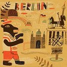Berlin,Travel,Lederhosen,Berlin Wall,The Reichstag,Plant,Vector,Ilustration,Berlin Cathedral,Text,Traditional Clothing,Grunge,Subway Train,Atomic Clock,Bear,Train,2014,Paint,Monument,Berlin Radio Tower,Germany,Architecture