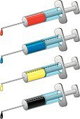 Syringe,cmyk,Vaccination,Injecting,AIDS,Surgical Needle,Blood,Ink,Drop,Medicine,Paint,Narcotic,Blue,Illness,Medicine And Science,Equipment,Healthcare And Medicine,Yellow,Medical Supplies,Red,Black Color