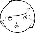 Cheerful,Human Face,Clip Art,Bizarre,Drawing - Activity,Facial Expression,Doodle,Cute,Ilustration