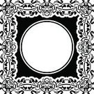 Scroll Shape,Old-fashioned,Black Color,Shape,Pattern,White,Empty,Frame,Style,Decor,Tattoo,Circle,Intricacy,Vector,Decoration,Design Element,Celtic Style,Swirl,Abstract,Frame,Art,Blank,Ornate,Elegance