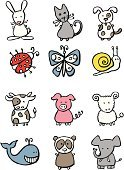 Cow,Ladybug,Domestic Cat,Panda,Elephant,Dog,Rabbit - Animal,Sheep,Whale,Pig,Snail,Goat,Calf,Farm,Animal,Innocence,Insect,Butterfly - Insect,Pencil Drawing,Cattle,Protection,Loss,Formal Garden,Flower Bed,Animals In The Wild,Vector Cartoons,Illustrations And Vector Art,Ornamental Garden,Animals And Pets