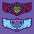 Decoration,Coat Of Arms,Design,Multi Colored,Abstract,Vector,Flat,Banner