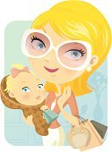 Mother,Baby,Cartoon,Shopping,Women,Little Girls,Family,Vector,Blond Hair,Daughter,Ilustration,Cute,Store,sunglass,Characters,Glamour,Holding,Offspring,Cheerful,Love,Parent,Luxury,Wealth,Retail,Friendship,Female,Femininity,Make-up,Happiness,Clip Art,Loving,Indoors,Beautiful,Care,Shopping Bag,Beauty,New Life,Caucasian Ethnicity,handcarves,Concepts And Ideas,carved letters,People,Feelings And Emotions,aciculum