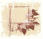 Autumn,Frame,Grunge,Leaf,Square,Vector,Abstract,Creativity,Copy Space,Backgrounds,Tree,Design,Computer Graphic,Brown,Illustrations And Vector Art,Holidays And Celebrations,Thanksgiving,New Year's,Style,Gray,No People,Painted Image,Ilustration,Color Image,Drawing - Art Product