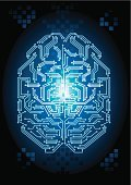 Human Brain,Circuit Board,Cyborg,Computer Chip,Mother Board,Electrical Component,Symbol,Binary Code,Memories,Backgrounds,Intelligence,Futuristic,Modern,Technology,CPU,informatics,Computer Part,Computer Software,No People,Electronics Industry,Inspiration,Thinking,Science and Technology,Blue,Creativity,Ideas,Science,Profile View,Side View,Nerve Cell,Vibrant Color,Data,Cyberspace,Vector,Computer,Artificial,cybernetic