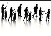 Golf,Women,Silhouette,Golf Bag,Caddy,Female,Men,Couple,Bag,Little Girls,Back Lit,Team,Golf Club,Walking,Teamwork,Sports Team,Vector,Young Adult,Hobbies,Male,Exercising,Sport,Heterosexual Couple,Clip Art,Ilustration,Hat,Choice,Muscular Build,Choosing,dude,Enjoyment,Sports And Fitness,People,Golf,Illustrations And Vector Art,handcarves,Healthy Lifestyle,Relaxation,Passing