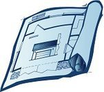 Home Improvement,Cut Out,Blue,house plan,Blueprint,Single Object,Model Home,Real Estate,No People