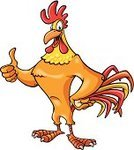 Rooster,Thumbs Up,Cartoon,Vector,Cockerel,Beak,Tail,Chest,Feather,Wattle,Smiling,Smiley Face,Comb,Claw,Vertical