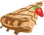 Crepe - Pancake,Vector,Breakfast,Sweet Food,Food,Isolated,French Culture,Snack,Meal,Ilustration,Pancake,Dessert,Brown
