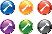 Hammer,Symbol,IT Support,Circle,Work Tool,Computer Icon,Hardware Store,Push Button,Icon Set,Interface Icons,Claw Hammer,Computer Part,Series,Design Element,Sign,Yellow,Mallet,Curve,Hand Tool,Blue,Set,Black Color,Red,Purple,Digitally Generated Image,White Background,Sparse,Design,Ilustration,Vector,Modern,Green Color,Shiny