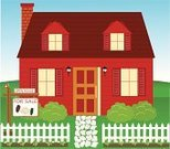 Cottage,House,Residential Structure,Fence,Facade,Model Home,Picket Fence,Sign,Real Estate Sign,Flower Bed,Detached House,Selling,Front or Back Yard,Ilustration,Chimney,Lawn,Grass,Clip Art,Sidewalk,Sale,Real Estate,Flower,Residential District,For Sale,No People,Vector,Paving Stone,Bush,Tulip,Bird,Landscaped,Landscape,Objects/Equipment,Architecture And Buildings,Architecture,Illustrations And Vector Art