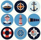 Nautical Vessel,Sailor,Symbol,Sailing,Explorer,Lighthouse,Icon Set,Hand-Held Telescope,Vector,Hat,Nautical Equipment,Travel,Help,Helm,Flat,user,Cap,Direction,Anchor,Navigational Equipment,Drawing Compass,Boat Captain,SOS,Sea,Compass,Perfection