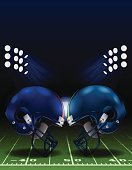 American Football - Sport,Sports Team,Football Helmet,Face To Face,Ilustration,Football Field,Vector,Spotlight,Textured,Sports Helmet,Color Image,Spot Lit,Creativity,Night,Sports Equipment,sports and fitness,Professional Football,Competitive Sport,stadium lighting,Playing Field,Light Effect,American Football Stadium,Stadium,Competition,Dusk,Green Color,Sport,Vertical,Football Yard,Lighting Equipment,Floodlit,Team Sport,Design Element,Symbol,Floodlight,Yard Line,Goal Post,Textured Effect