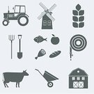 Computer Icon,Symbol,Tractor,Garden Hose,Farm,Cow,Gardening Equipment,Meat,Factory,Unilateral,Single Object,Vector,mechanization,Watering,Harvesting,Windmill,Group of Objects,House,Construction Industry,Agriculture,Cattle,Ilustration,Image,Whole Wheat,Barn,Growth,Spadefish,Apple - Fruit,Seed,Bread