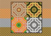 Portuguese Culture,Tile,Pattern,Geometric Shape,Tiled Floor,Backgrounds,Colonial Style,Abstract,Seamless,Flooring,Construction Material,Circle,Intricacy,Decoration,European Culture,Elegance,Square Shape,Europe,Objects/Equipment,Antique,Old-fashioned,Decor,Repetition,Square,Ornate,Architecture And Buildings,Vector,Multi Colored,Retro Revival