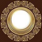 Cartouche,Architectural Revivalism,Vignette,Abstract,Floral Pattern,Swirl,Vector,Style,Design,Branch,Retro Revival,Ornate,Gold Colored,Pattern,Decoration,Decor,Frame,Elegance,Creativity,Art,Frame,Classical Style,Scroll
