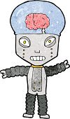 Cheerful,Clip Art,Cultures,Doodle,Robot,Ilustration