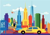 New York City,Empire State Building,Brooklyn Bridge,Times Square,Freedom Tower - New York,Urban Skyline,Chrysler Building,Manhattan,Yellow Taxi